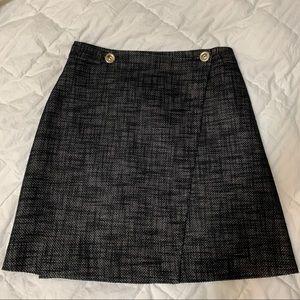 Judith & Charles size 4 black tweed wrap skirt